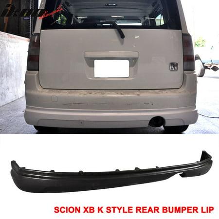 Diffuser Spoiler (Fits 03-07 Scion xB Rear Bumper Lip Diffuser Spoiler PU K-Style Body Kit 03)