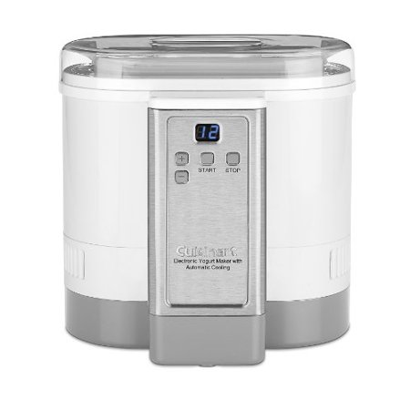 Cuisinart Electronic Yogurt Maker With Automatic Cooling Refurbished
