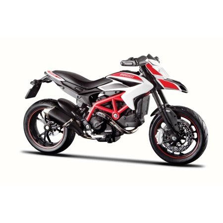- Ducati Hypermotard SP Motorcycle, Black & Red - Maisto 31300/HYP - 1/18 Scale Diecast Model Toy Motorcycle