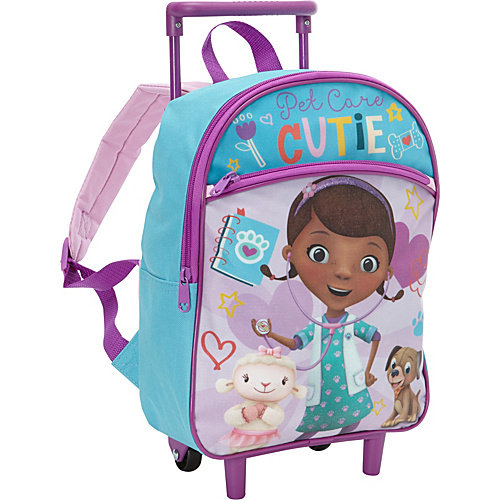Disney Doc McStuffins 12 Inch Rolling Backpack