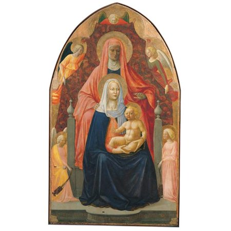 Everett Collection EVCMOND030VJ220H Madonna & Child with St Anne Poster Print, 18 x 24 - image 1 of 1
