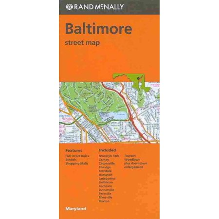 Rand mcnally baltimore, maryland street map - folded map: 9780528008115 ()