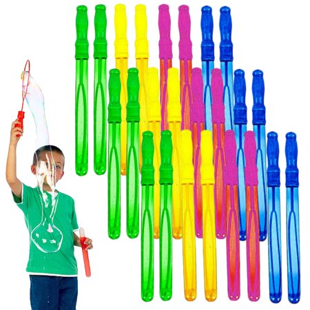 Cyber Kidz24 Pack Big Giant Blowing Bubbles Bubble Wands Assortment For Kids Toy Set