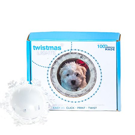 Twistmas Lights Personalized Photo Snowflake Light Up Ornament Kit
