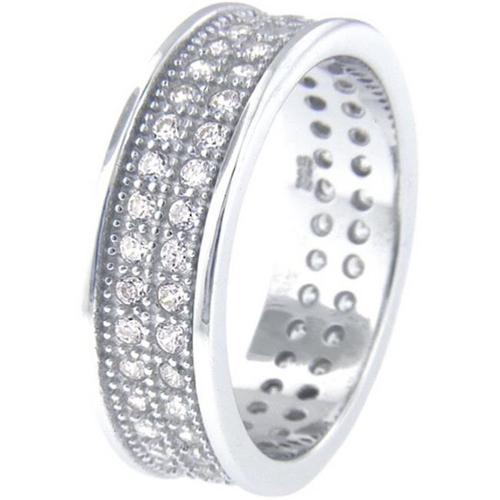 Doma Jewellery SSRZ5285 Sterling Silver Ring With Cubic Zirconia, Size 5