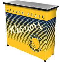 Golden State Warriors Hardwood Classics NBA Portable Bar with Carrying Case