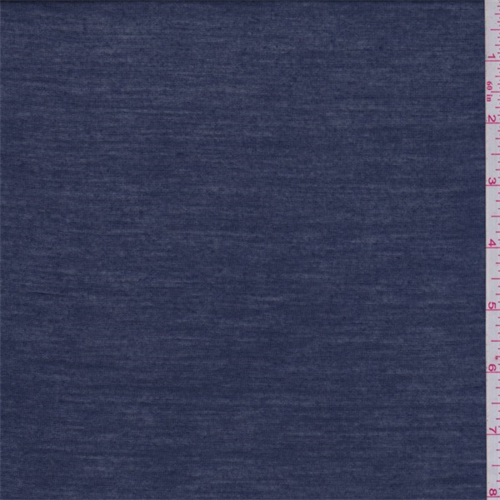 Navy Blue T-Shirt Knit, Fabric By the Yard