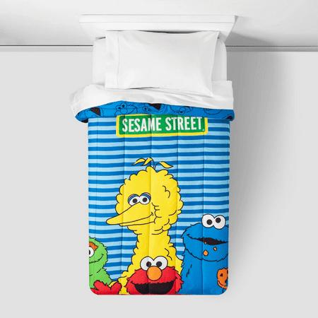 Sesame Street Reversible Twin Elmo Comforter And 3 Piece Sheet Set