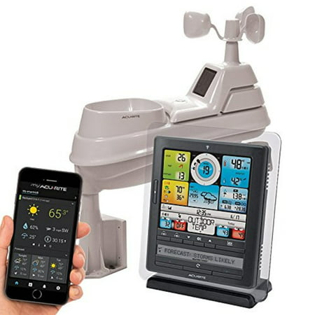 Acurite 01036M Wireless Weather Station With Programmable Alarms  Pc Connect  5 In 1 Weather Sensor And My Remote Monitoring Weather App