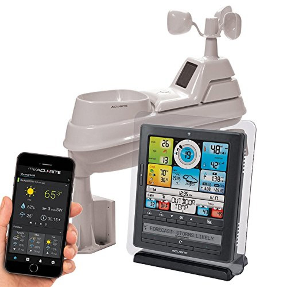 "AcuRite 01036 RM 8"" Pro Digital Weather Station with PC Connect. Professional Weather Station allows you to monitor conditions remotely from a PC or phone app."