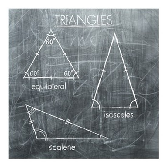 Triangles Poster Print (20 x 20)