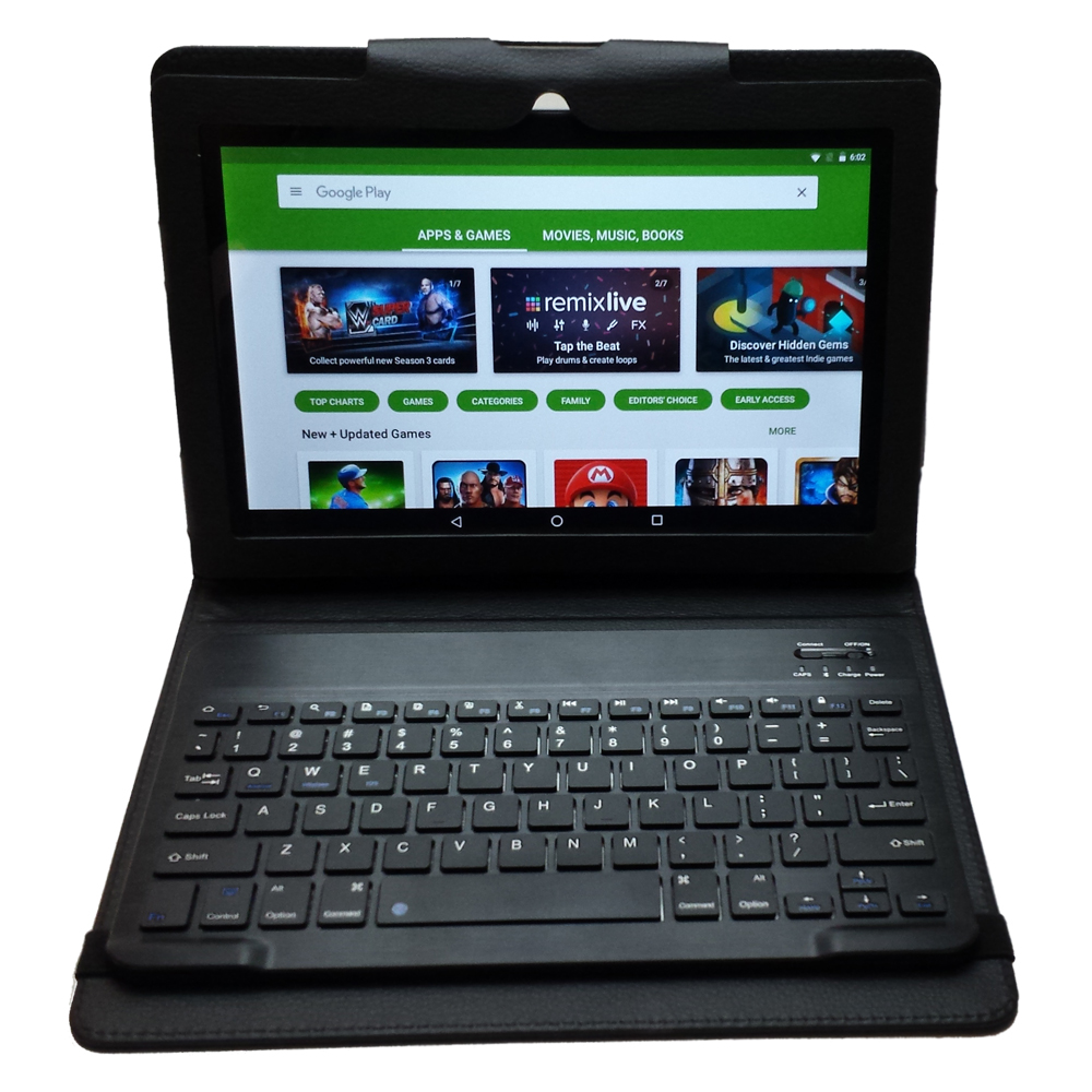 "Azpen Innovation 10"" 4G LTE 16GB Android 6.0 Tablet with Bluetooth Keyboard & Case G1058S"