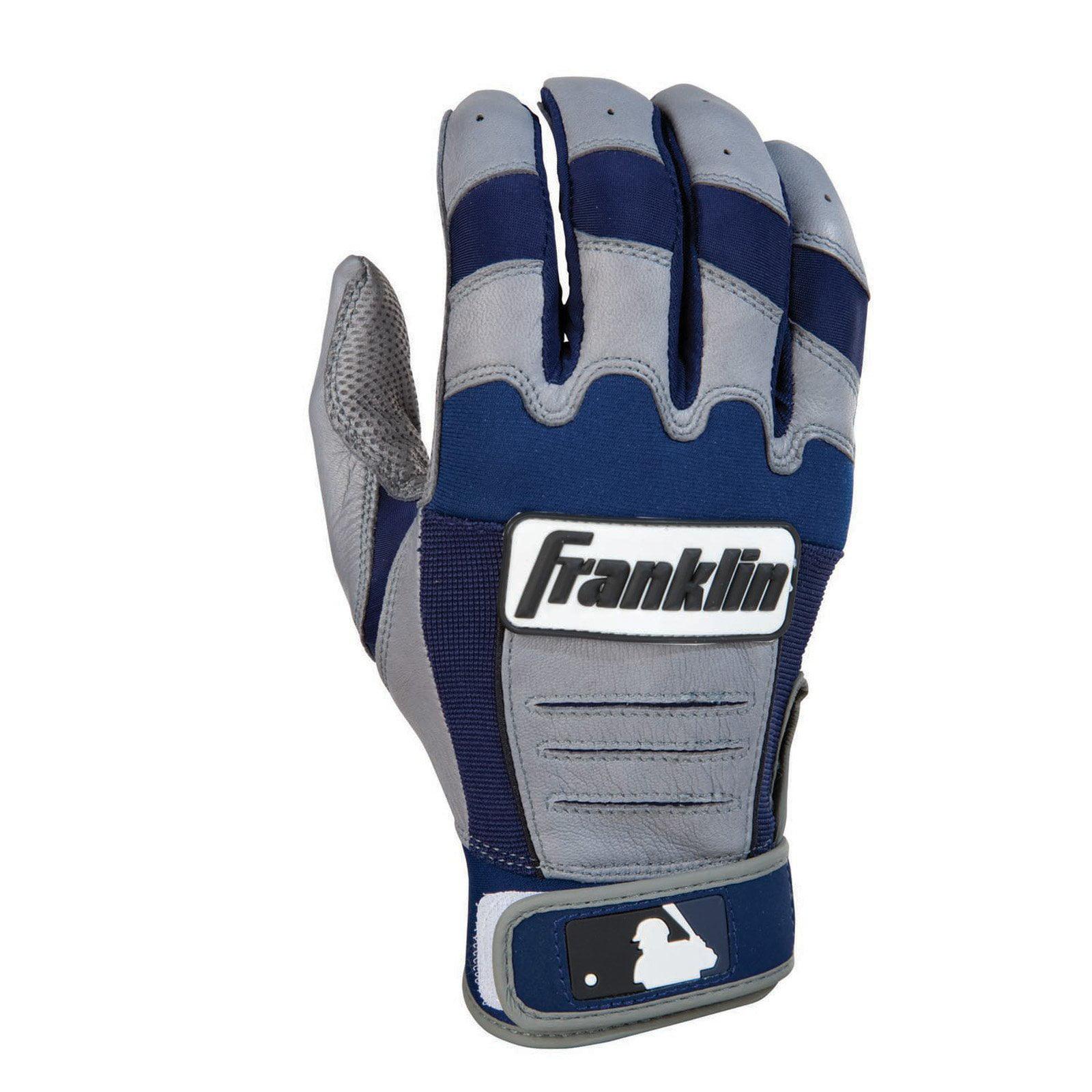Franklin Sports CFX Pro Series Adult Batting Gloves - Gray/Navy - Medium