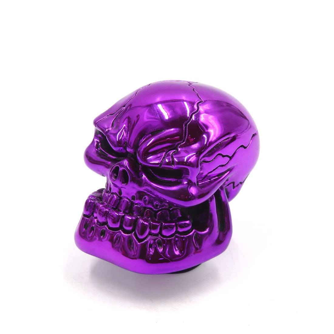 Universal Skull Head Style Car Manual Stick Gear Shift Knob Lever Shifter Purple