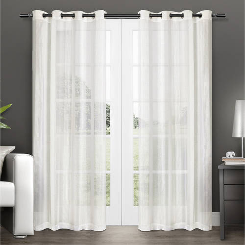 Exclusive Home Sheer Window Curtain Panel Pair with Grommet Top by Exclusive Home