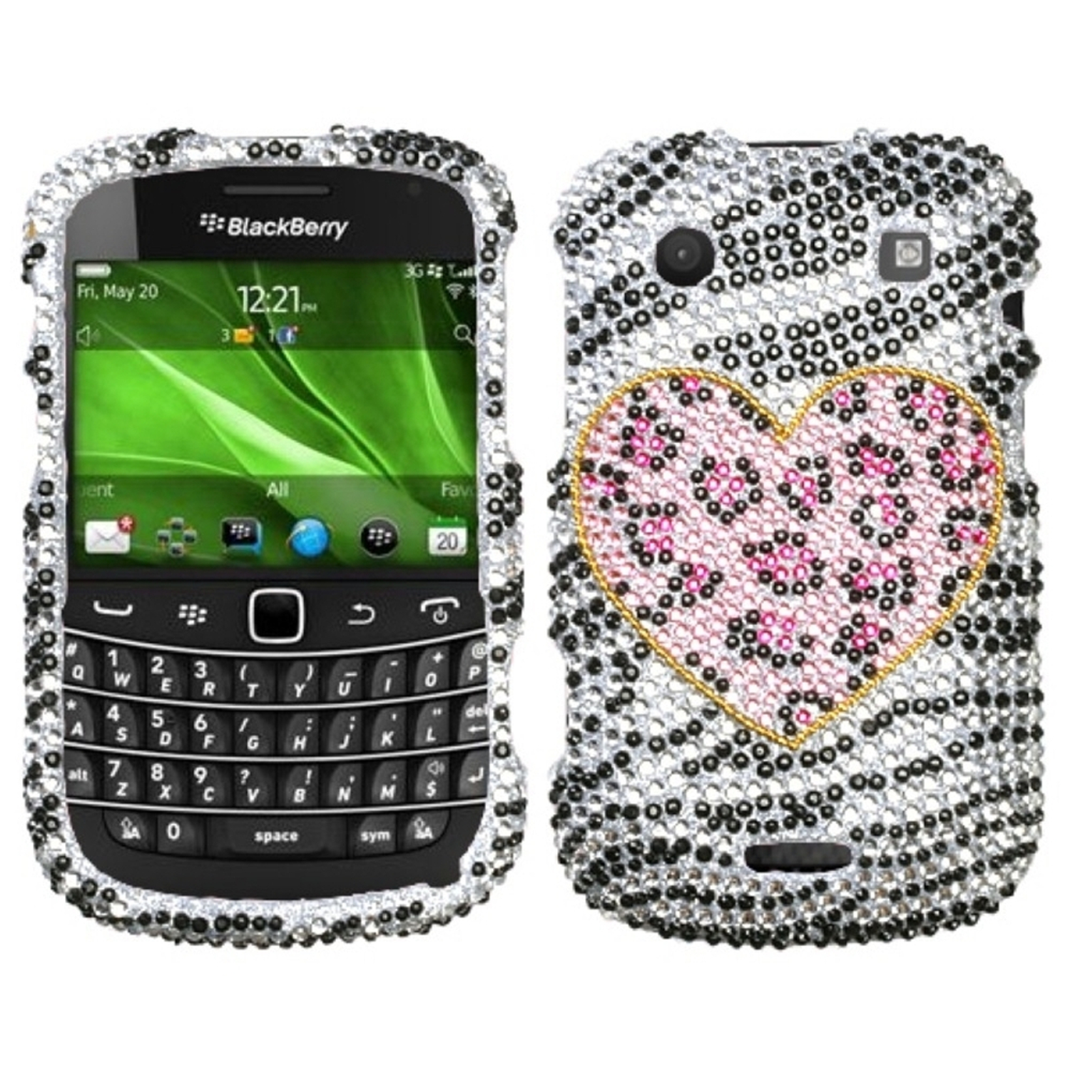 Insten Playful Leopard Diamond Case Cover For BLACKBERRY 9930 Bold 9900 Bold
