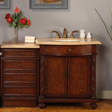 Silkroad exclusive victoria 52 39 39 single bathroom vanity - Walmart bathroom vanities with sink ...