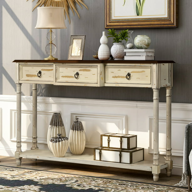 52 Narrow Console Sofa Table, Furniture For Foyer Entrance