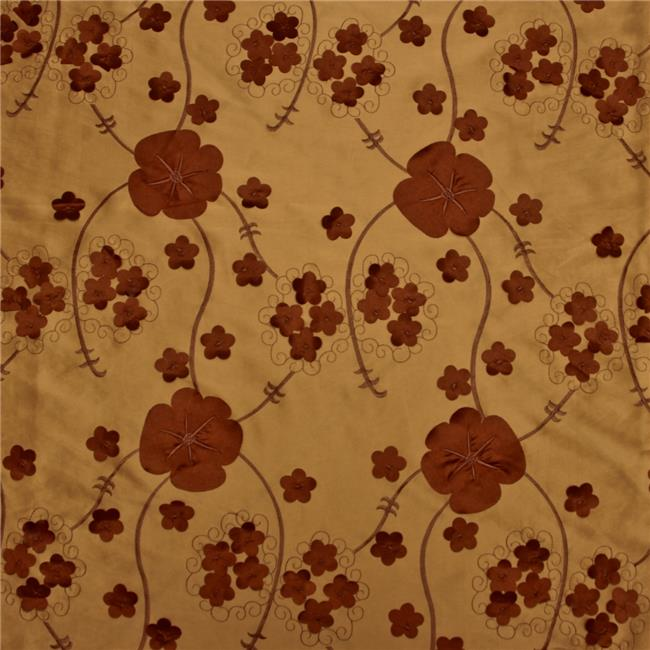 10-WATERLILIES-GOLD-COPPER Water Lilies Decorative Fabric - Gold & Copper, 25 yards