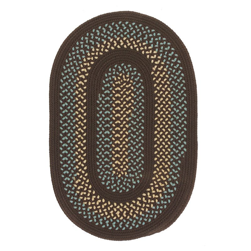 Colonial Mills Georgetown Indoor/Outdoor Braided Area Rug - Fudge Brown