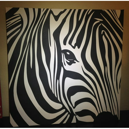 Canvas Print Wildlife Zebra Canvas Animal Painting Nature Wild Stretched Canvas 10 x 14](Wild Zebra)