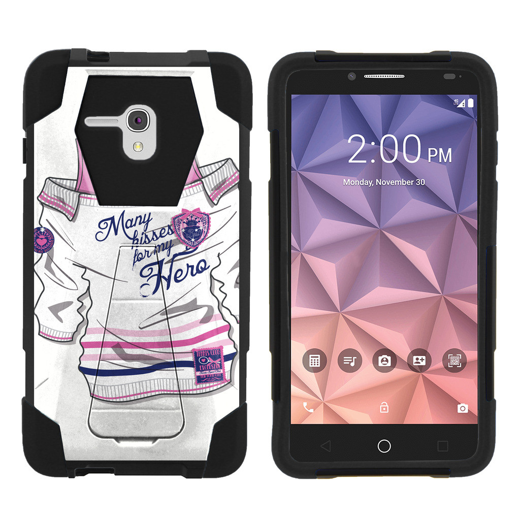Alcatel One Touch Fierce XL 5054N Shock Fusion Heavy Duty Dual Layer Kickstand Case -  Shattering Winter