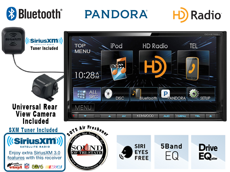 Kenwood DDX672BH 6.95' In Dash Double Din DVD Receiver with Built in Bluetoot... by Kenwood