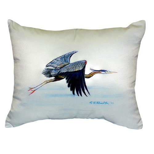 Betsy Drake Interiors Flying Heron Indoor Outdoor Lumbar Pillow Walmart Com Walmart Com