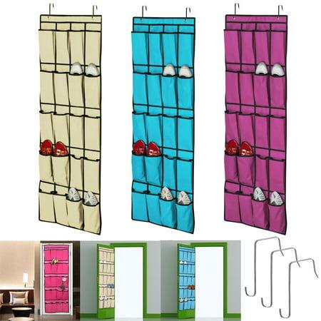 Door Hanger Ideas (TSV 20 Pockets Shoe Organizer Over the Door Storage Rack Hanging Space Saver)