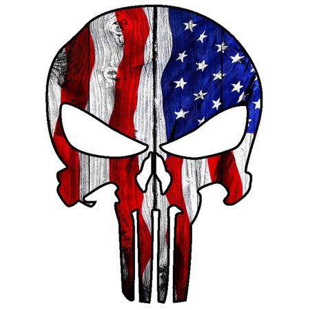Punisher Skull Military American Flag Us Sticker Decal Large 8