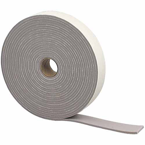 "M-D Products 02352 Gray Camper Seal Foam Weather Strip, 3/16"" x 1-1/4"" x 30'"