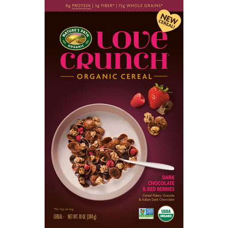 Love Crunch Organic Cereal Dark Chocolate & Red Berries 10 Oz Low Salt Organic Cereal