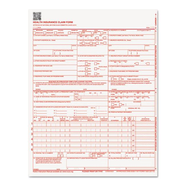 Paris Business Products 07104 8. 5 x 11 CMS Forms - 250 Forms