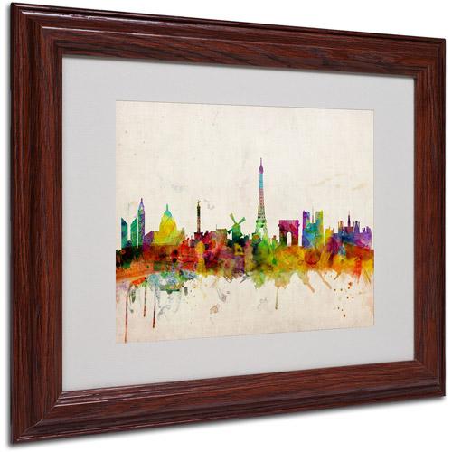 Trademark Art 'Paris Skyline' Matted Framed Art by Michael Tompsett