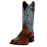 "Dan Post Western Boots Mens 11"" Lava Cowboy Leather Tan Blue DP3885"