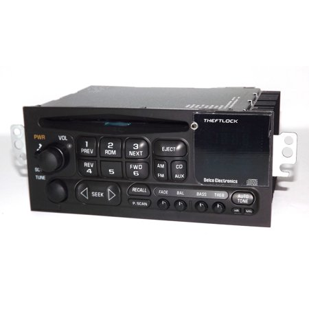 GM Delco 96-02 Chevy Car S10 Radio - CD Player 3.5mm Aux iPod mp3 Input in Face - Refurbished