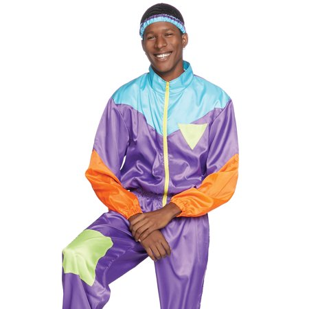Leg Avenue Men's 2 PC Retro 80s Ski Suit (80's Leg Warmer Costume)
