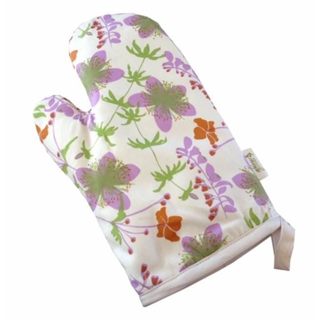A Greener Kitchen OM002 Organic Cotton Oven Mitt - Garden-Natural