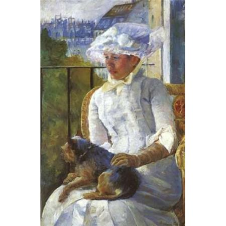 Bentley Global Arts PDX372758SMALL Young Girl At A Window 1883 Poster Print by Mary Cassatt, 12 x 18 - Small - image 1 de 1