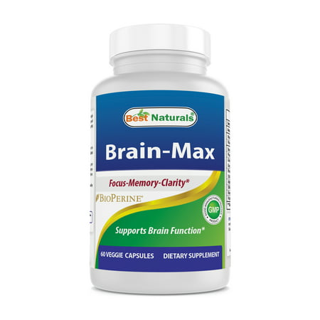 Best Naturals Brain - MAX Brain Focus Supplement for Focus, Memory, Energy, Clarity 60 Veggie