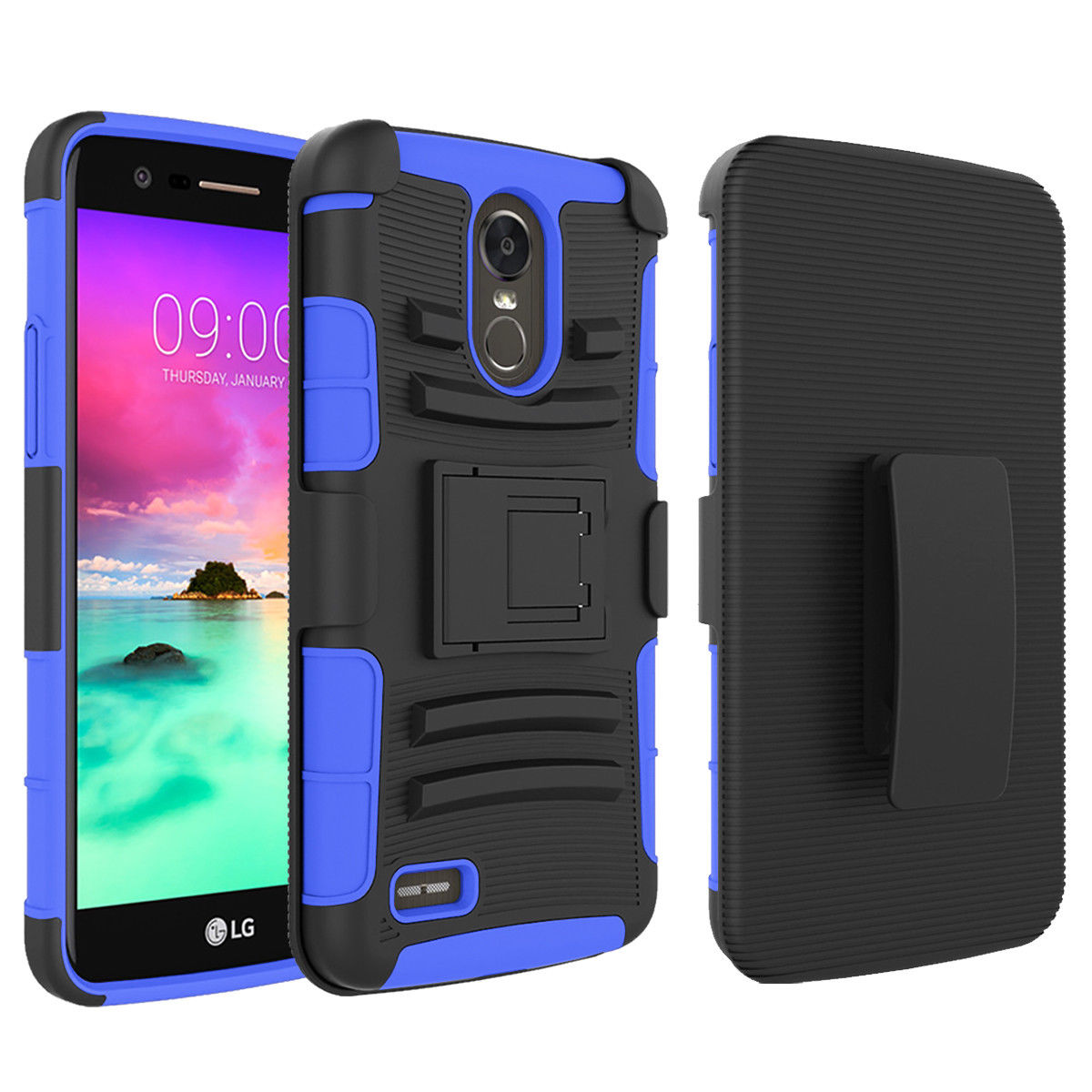 timeless design 2c068 703a4 LG Stylo 3 Case, Mignova Rugged Plastic Heavy Duty Armor Holster Defender  Full Body Protective Hybrid Case Cover with Kickstand and Belt Swivel Clip  ...