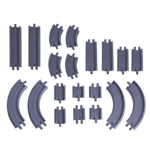 Learning Curve Die-Cast Straight and Curved Track Pack Multi-Colored
