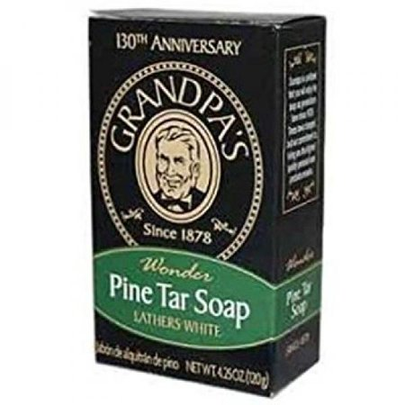 Grandpa's Brands Pine Tar Soap, 4.25 Ounce (Best Pine Tar Soap)