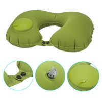 NK Travel Plane Flight U-shaped Pillow Inflatable Soft Car Head Neck Rest Compact Airplanes Comfortable U-Shape Inflatable Neck Pillow Green