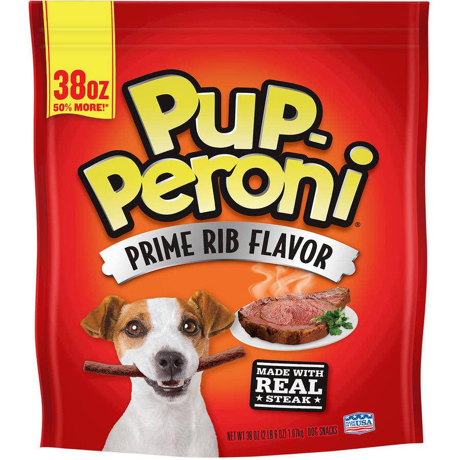 Click here to buy Pup-Peroni Prime Rib Flavor Dog Treat, 38 oz by Generic.