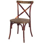 New Pacific Direct 938235-DR Natalie KD Metal Chair, Distressed Red