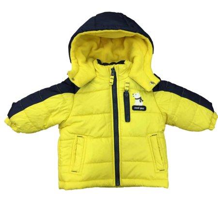24f5e5f754ca Carters - Carters Infant Boys Yellow Polar Bear Cub Coat Winter ...