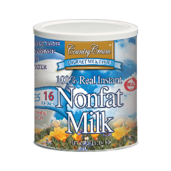Country Cream 100% Real Instant Non-fat Powdered Milk USDA Approved Vit A D