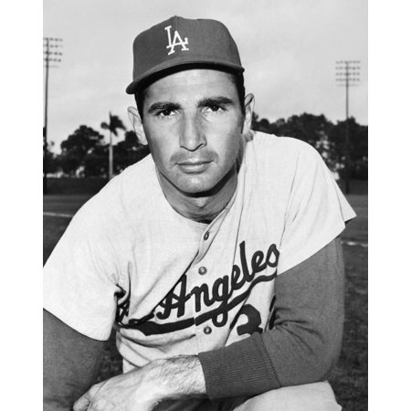 Sandy Koufax  1935    Nn Sanford Braun American Baseball Pitcher Photographed During Spring Training As A Member Of The Los Angeles Dodgers March 1964 Rolled Canvas Art     18 X 24