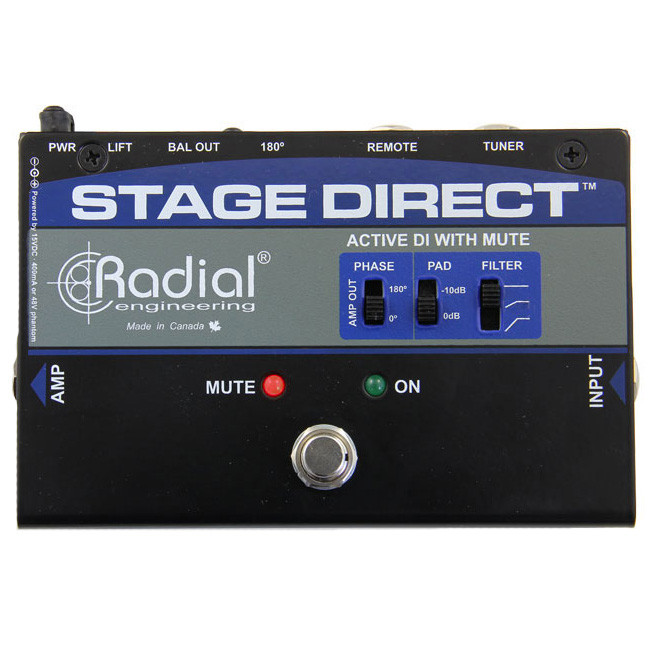 Radial StageDirect Active Direct Box w Mute Footswitch by Radial Engineering